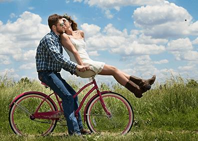 Foto Natur Fahrrad Mann Frau